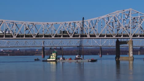Bridges-span-the-Ohio-River-near-Louisville-Kentucky-1