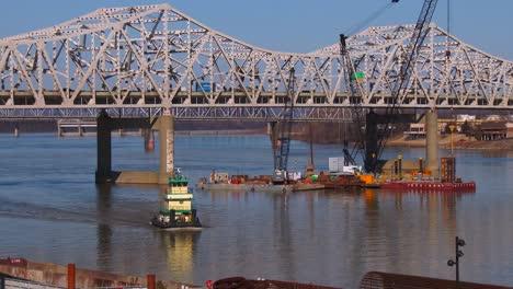 Puentes-Sobre-El-Río-Ohio-Cerca-De-Louisville-Kentucky-2