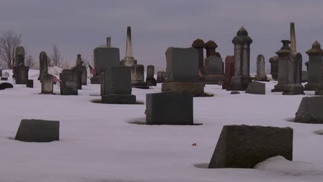 A-traditional-cemetery-in-the-snow