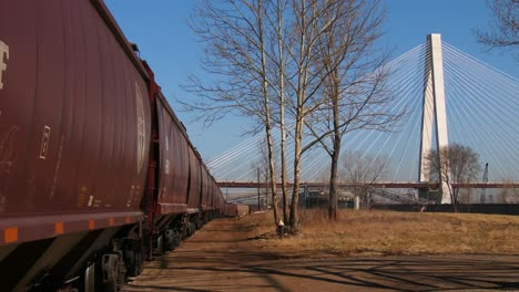 Freight-cars-are-lined-up-in-an-industrial-area-of-St-Louis-Missouri