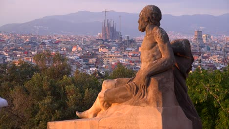 View-across-Barcelona-Spain-with-statue-foreground-1