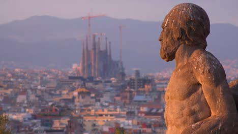 View-across-Barcelona-Spain-with-statue-foreground-3