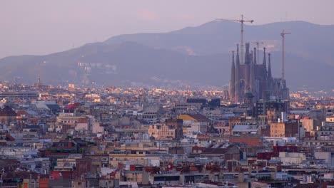 The-distant-skyline-of-Barcelona-Spain-with-Sagrada-Familia-distant-1