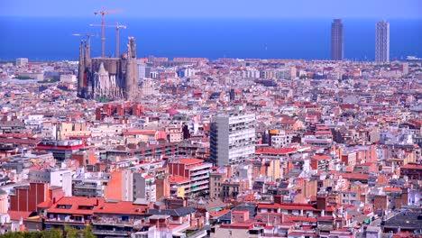 Establishing-shot-of-Barcelona-Spain
