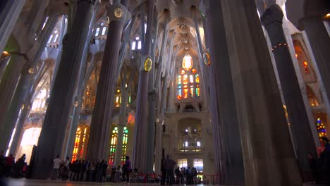 The-beautiful-interior-of-the-Sagrada-Familia-Cathedral-by-Gaudi-in-Barcelona-Spain