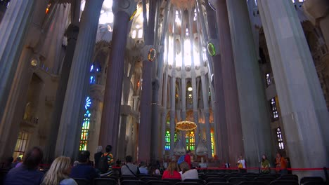 The-beautiful-interior-of-the-Sagrada-Familia-Cathedral-by-Gaudi-in-Barcelona-Spain-2