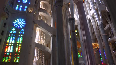 Interior-of-the-beautiful-interior-of-the-Sagrada-Familia-Cathedral-by-Gaudi-in-Barcelona-Spain