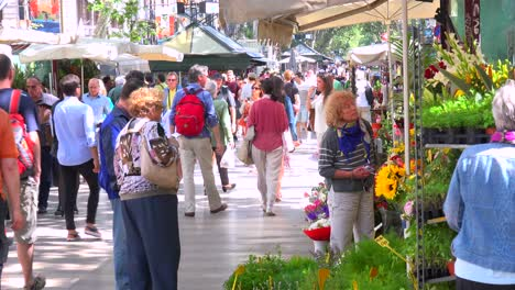 Las-Multitudes-Caminan-En-Un-Barrio-De-Barcelona-España-1