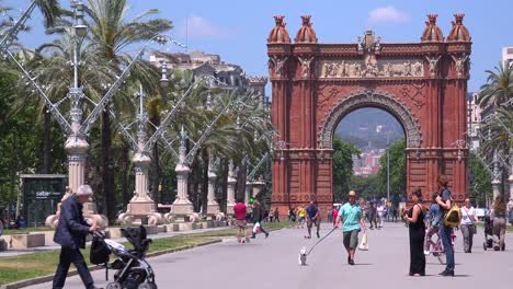 The-Arc-De-Triumph-of-Barcelona-Spain