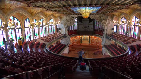 Pan-across-a-beautiful-performing-arts-hall-in-Barcelona-Spain-1