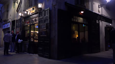 Classic-establishing-shot-of-a-bar-or-cafe-at-night-in-European-style-1