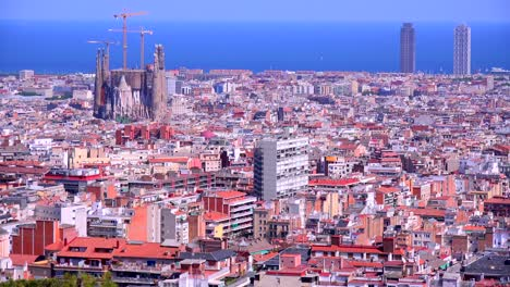 A-high-angle-overview-of-Barcelona-Spain