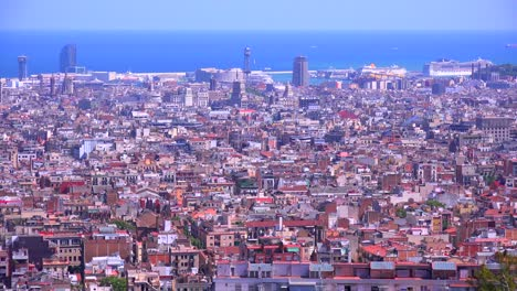 A-high-angle-overview-of-Barcelona-Spain-1
