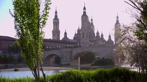 A-classic-and-beautiful-Catholic-church-in-Zaragoza-Spain