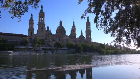 A-classic-and-beautiful-Catholic-cathedral-church-in-Zaragoza-Spain