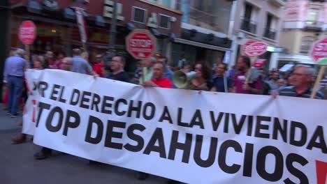 Protestas-En-España-Por-El-Estado-De-La-Economía