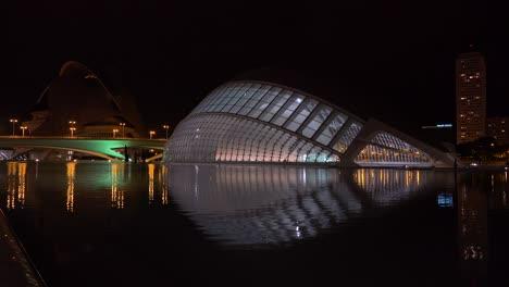 The-futuristic-architecture-of-Valencia-Spain-night