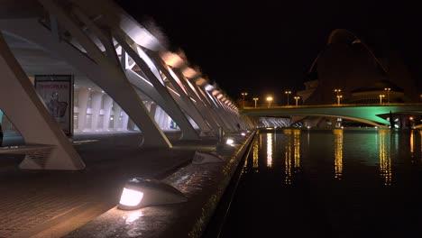 The-futuristic-architecture-of-Valencia-Spain-night-1