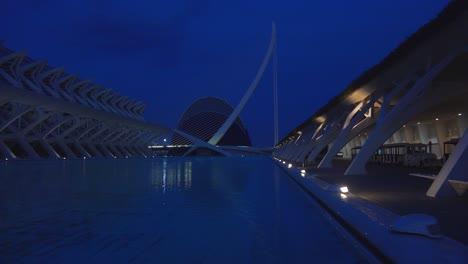 Futuristic-architecture-of-Valencia-Spain-at-night