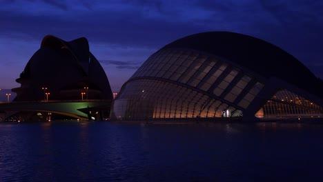 Futuristic-architecture-of-Valencia-Spain-at-night-3