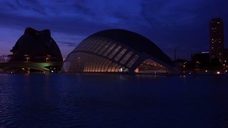 Futuristic-architecture-of-Valencia-Spain-at-night-4