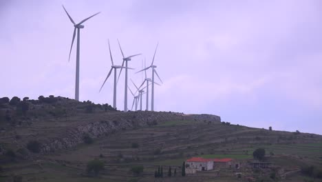 Windmills-generate-electricity-in-the-hills-of-Spain