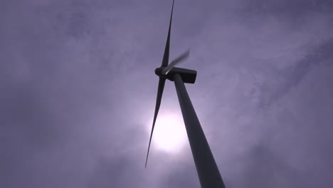 Low-angle-of-a-windmill-generating-electricity