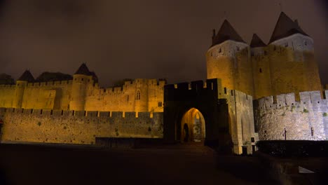 The-walls-and-ramparts-of-the-beautiful-Carcassone-Fort-in-the-south-of-France-at-night-2