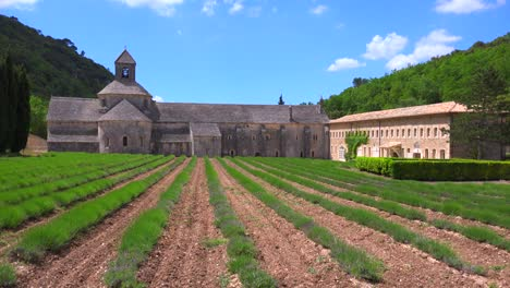 A-beautiful-church-abbey-in-the-countryside-of-France