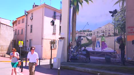 Buildings-are-painted-with-images-of-film-stars-during-the-Cannes-Film-Festival-2