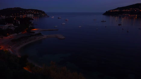 High-angle-over-France-s-amazing-Cote-D-Azur-at-night