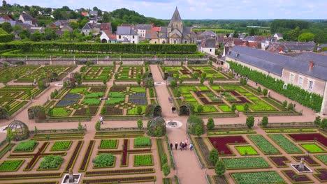 Los-Notables-Castillos-Y-Jardines-De-Villandry-En-El-Valle-Del-Loira-En-Francia