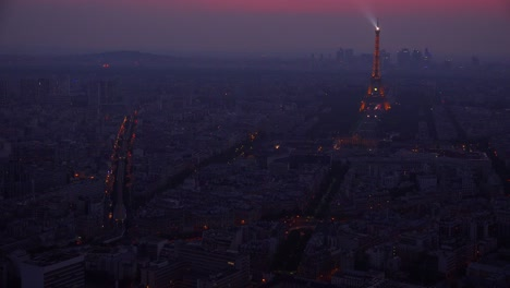 Gorgeous-high-angle-view-of-the-Eiffel-Tower-and-Paris-at-night