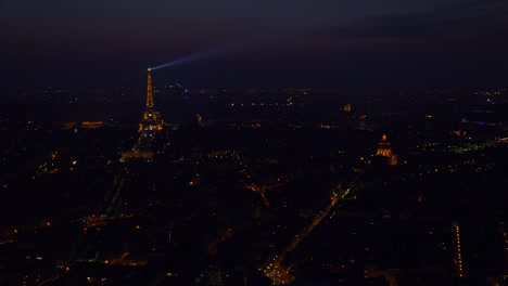 Gorgeous-high-angle-view-of-the-Eiffel-Tower-and-Paris-at-night-1
