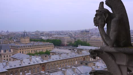 Gargoyles-watch-over-Paris-France-from-Notre-Dame-cathedral