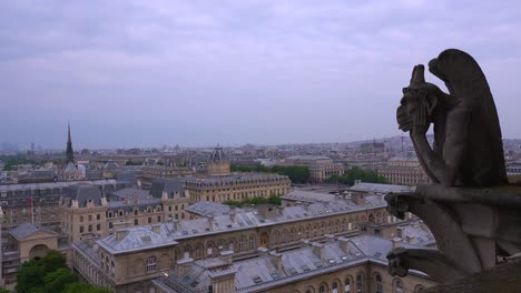 Gargoyles-watch-over-Paris-France-from-Notre-Dame-cathedral-1
