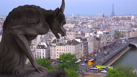 Classic-shot-of-gargoyles-watch-over-Paris-France-from-Notre-Dame-cathedral-1