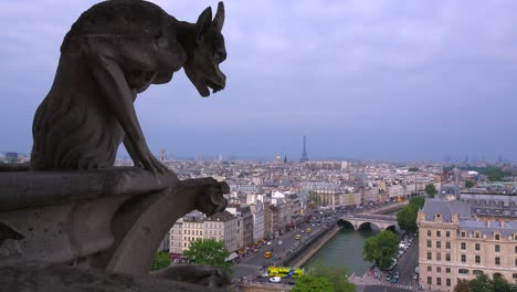Classic-shot-of-gargoyles-watch-over-Paris-France-from-Notre-Dame-cathedral-2