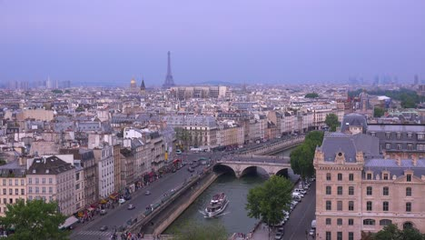 High-angle-view-over-the-rooftops-of-Paris-2