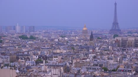 High-angle-view-over-the-city-of-Paris