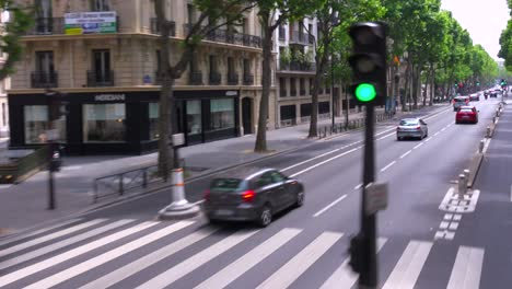 High-angle-view-over-cars-traveling-on-roads-in-Paris