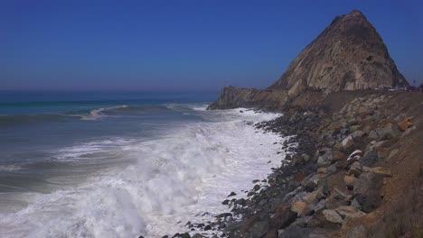 Large-waves-crash-along-a-California-beach-near-Malibu-1