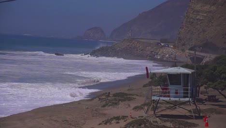A-lifeguard-station-along-the-Malibu-coast-during-a-big-storm-surge