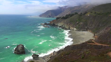 High-angle-view-of-the-rugged-coastline-along-California-Highway-One-4