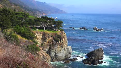 High-angle-view-of-the-rugged-coastline-along-California-Highway-One-5