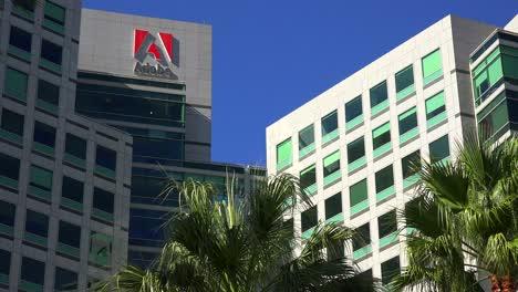 Establishing-shot-of-Adobe-Headquarters-in-silicon-valley-california
