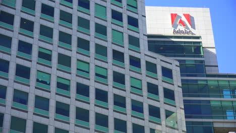 Establishing-shot-of-Adobe-Headquarters-in-silicon-valley-california-1