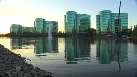Establishing-shot-of-Oracle-Headquarters-in-Silicon-Valley-California-in-golden-light-3