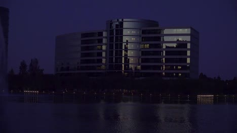 Establishing-shot-of-Oracle-Headquarters-in-Silicon-Valley-California-at-night-1