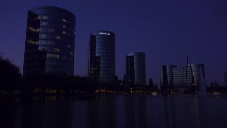 Establishing-shot-of-Oracle-Headquarters-in-Silicon-Valley-California-at-night-2